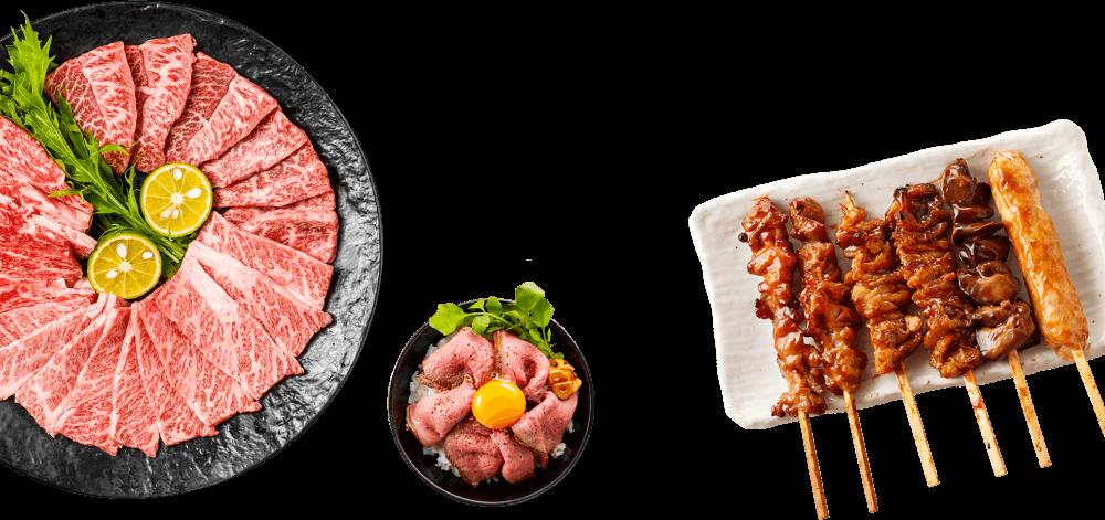 肉のオンパレード